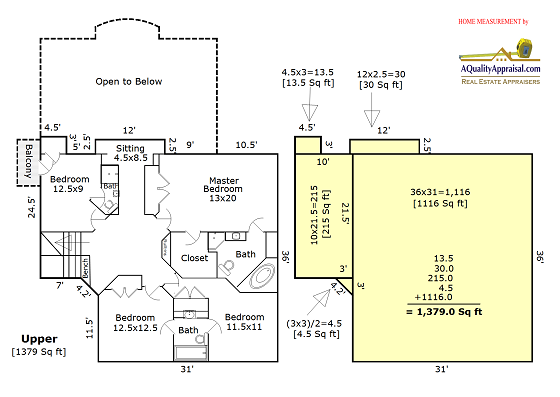 How to figure out square footage from a floor plan for Square footage of a room for flooring