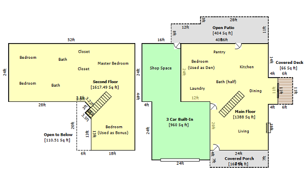 Home Appraisal Square Footage