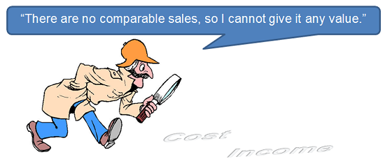 There are no comparable sales, so I cannot give it any value.